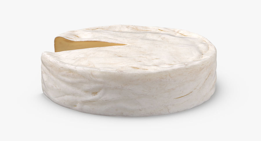 Brie Cheese Wheel Cut royalty-free 3d model - Preview no. 5