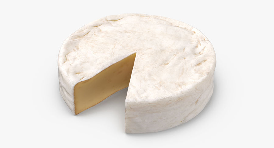 Brie Cheese Wheel Cut royalty-free 3d model - Preview no. 3