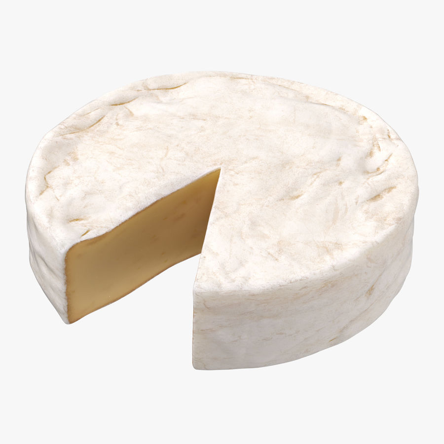 Brie Cheese Wheel Cut royalty-free 3d model - Preview no. 1