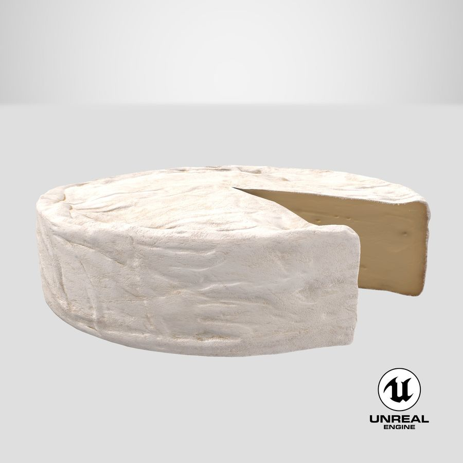 Brie Cheese Wheel Cut royalty-free 3d model - Preview no. 23