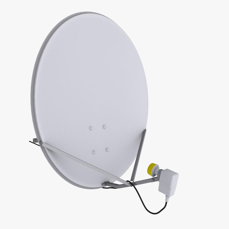 Antena satelital Ku Band royalty-free modelo 3d - Preview no. 2