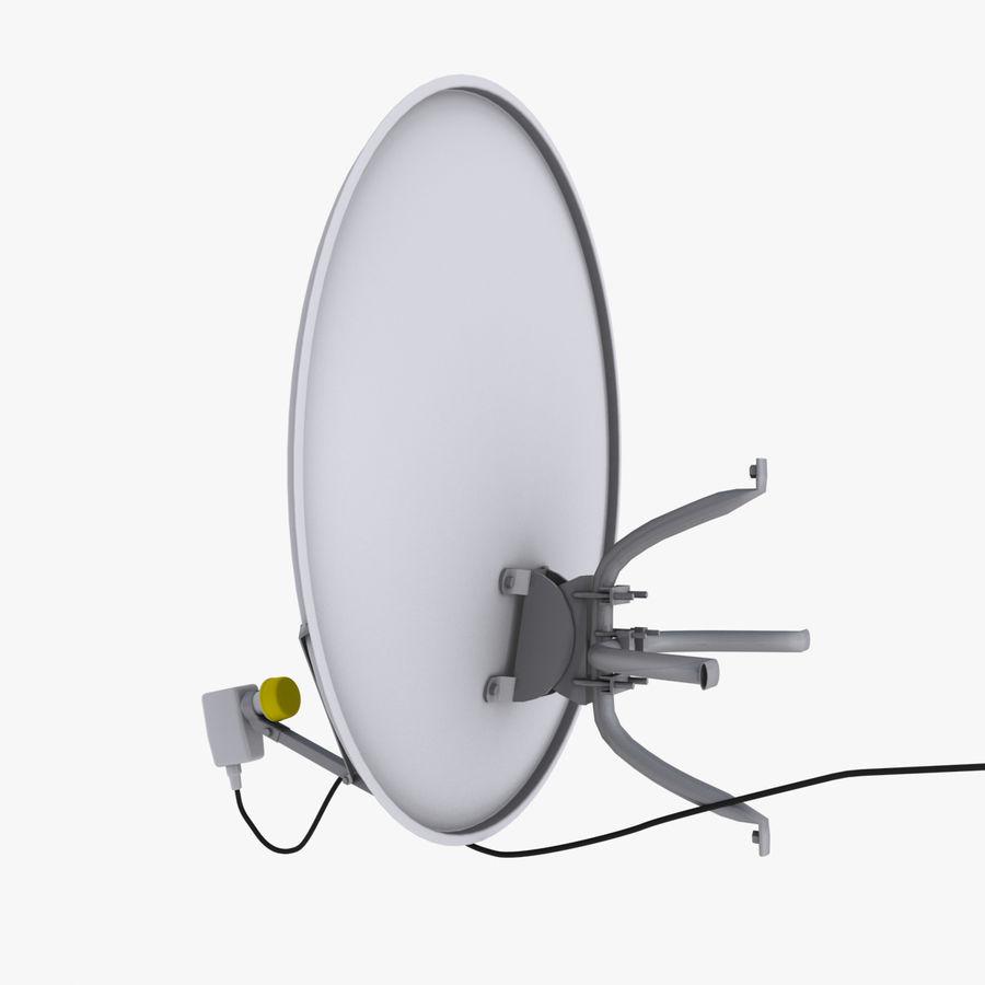 Antena satelital Ku Band royalty-free modelo 3d - Preview no. 4