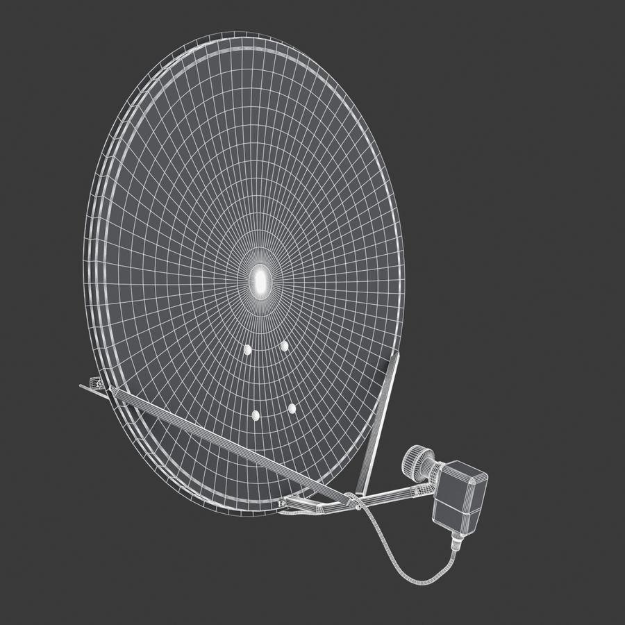 Antena satelital Ku Band royalty-free modelo 3d - Preview no. 3