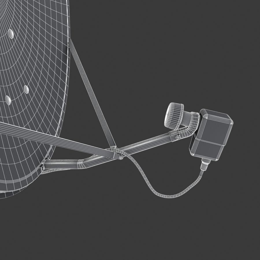 Antena satelital Ku Band royalty-free modelo 3d - Preview no. 15