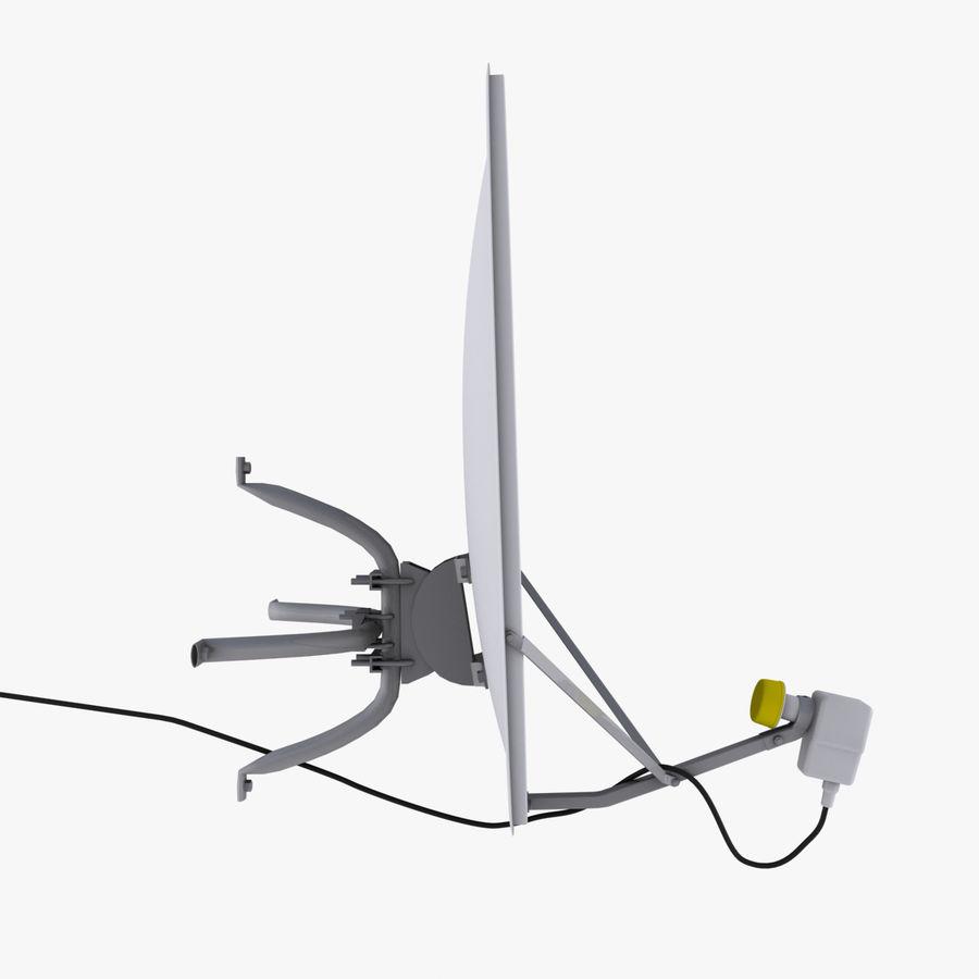 Antena satelital Ku Band royalty-free modelo 3d - Preview no. 5