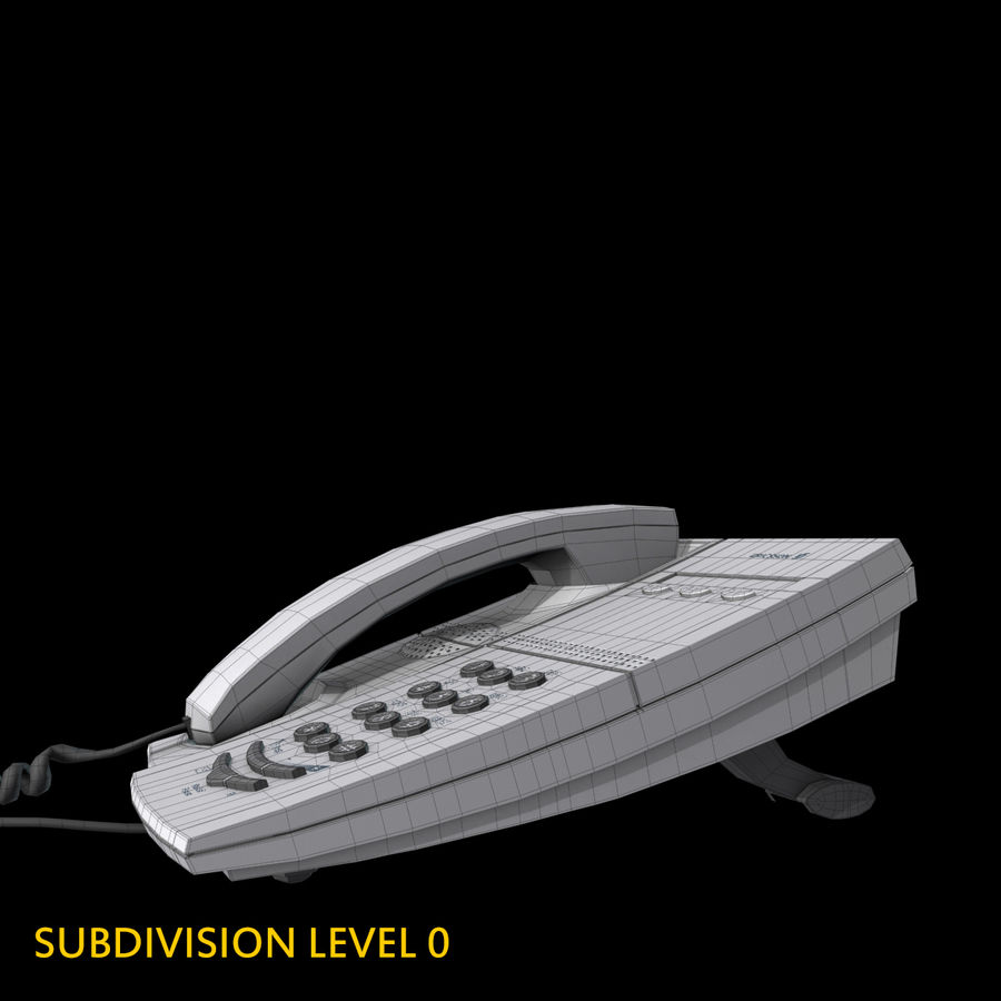 Telefone comercial Ericsson Dialog 4106 royalty-free 3d model - Preview no. 15