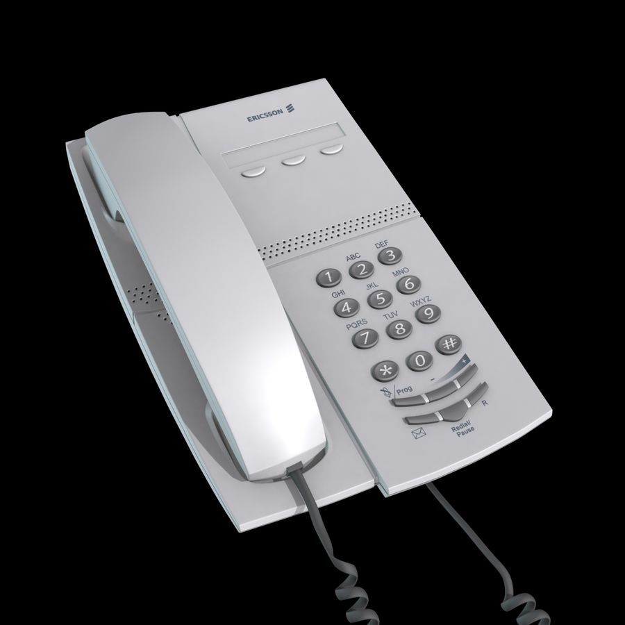 Telefone comercial Ericsson Dialog 4106 royalty-free 3d model - Preview no. 4