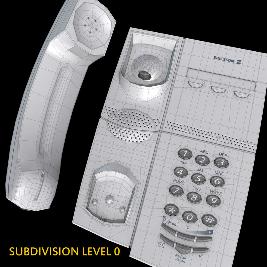Telefone comercial Ericsson Dialog 4106 royalty-free 3d model - Preview no. 9
