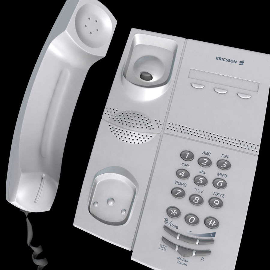 Telefone comercial Ericsson Dialog 4106 royalty-free 3d model - Preview no. 8