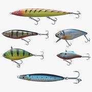 Рыболовные приманки 3d model