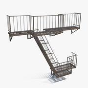 비상 계단 3d model