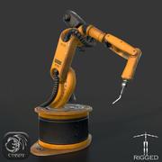 Robô de soldagem industrial Kuka rigged 3d model