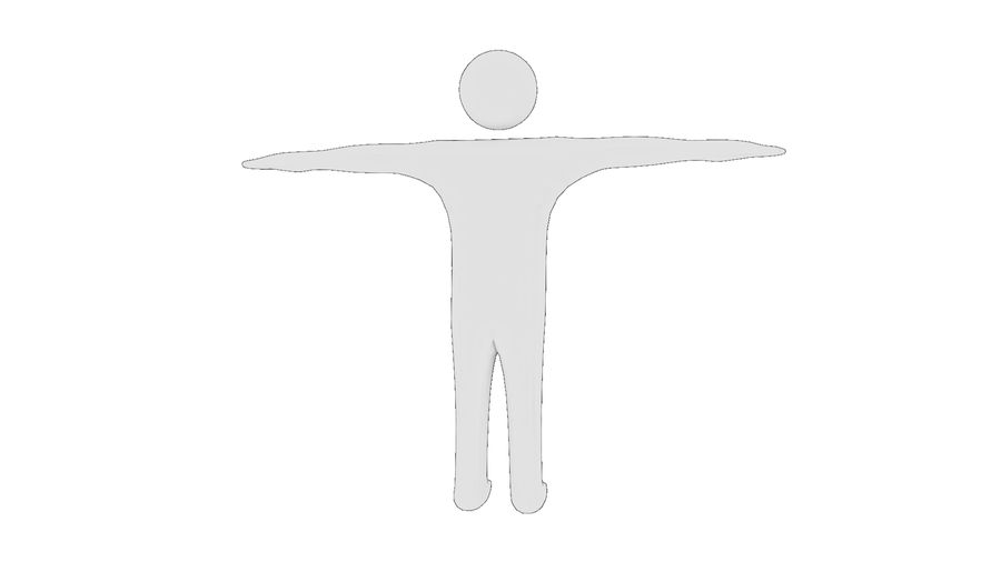 White Man - Generic Cartoon Character royalty-free 3d model - Preview no. 12