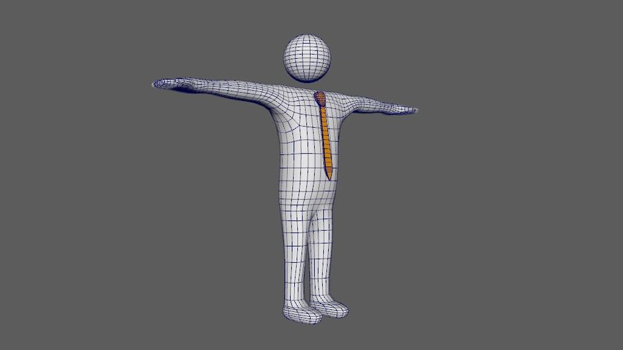White Man - Generic Cartoon Character royalty-free 3d model - Preview no. 26