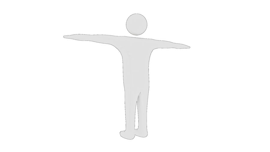 White Man - Generic Cartoon Character royalty-free 3d model - Preview no. 14