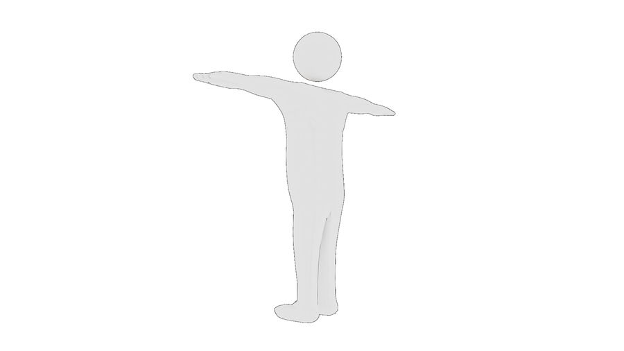 White Man - Generic Cartoon Character royalty-free 3d model - Preview no. 15