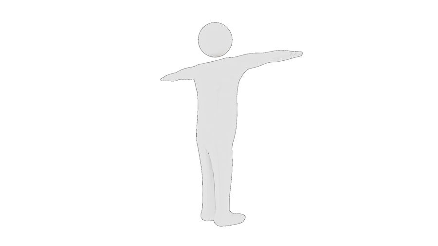 White Man - Generic Cartoon Character royalty-free 3d model - Preview no. 38