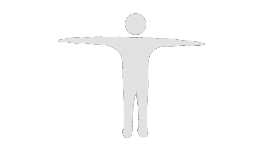 White Man - Generic Cartoon Character royalty-free 3d model - Preview no. 13