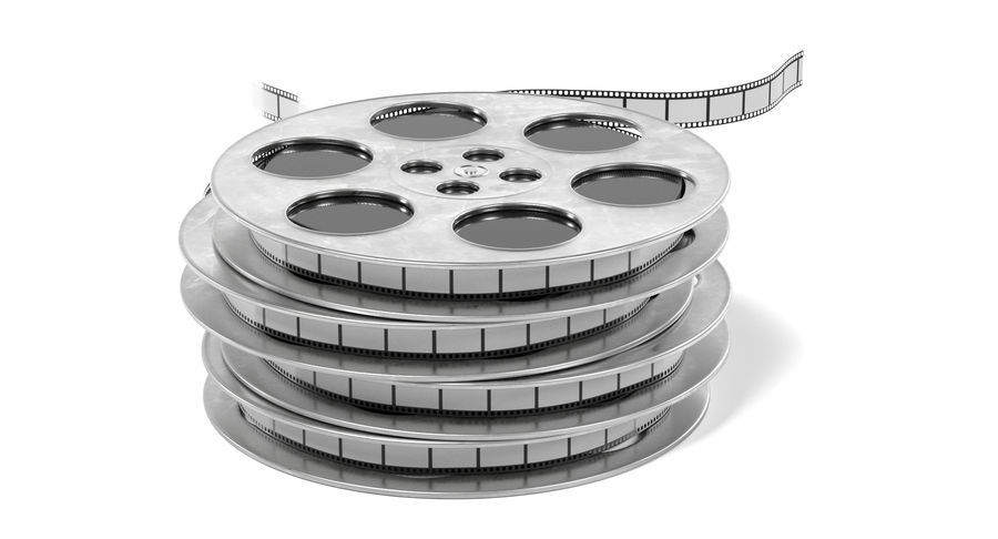 Film Reel royalty-free 3d model - Preview no. 9