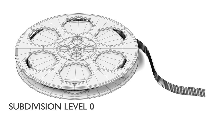 Film Reel royalty-free 3d model - Preview no. 12