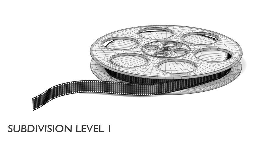 Film Reel royalty-free 3d model - Preview no. 15