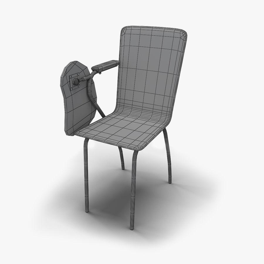教室の椅子 royalty-free 3d model - Preview no. 8