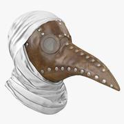 역병 의사 마스크 3d model