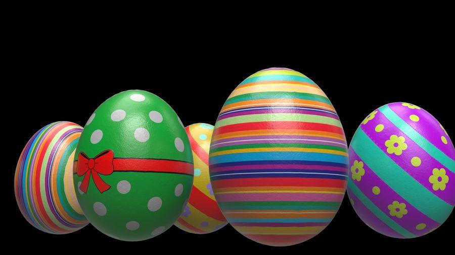 œufs de Pâques royalty-free 3d model - Preview no. 5