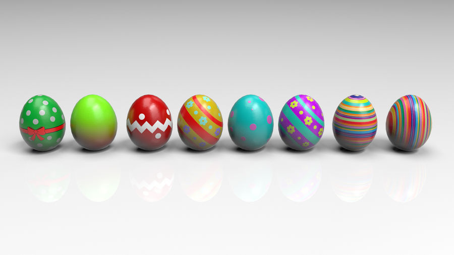 œufs de Pâques royalty-free 3d model - Preview no. 3