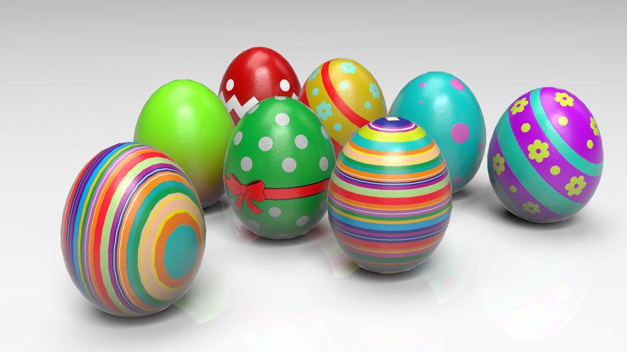 œufs de Pâques royalty-free 3d model - Preview no. 2