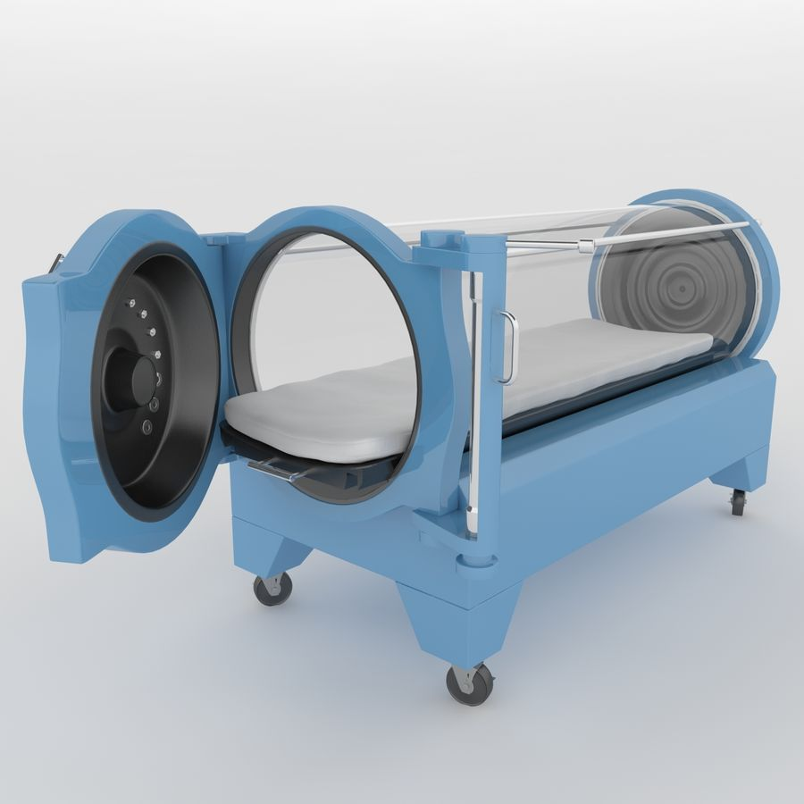 Hyperbaric Chamber SECHRIST2500B royalty-free 3d model - Preview no. 5
