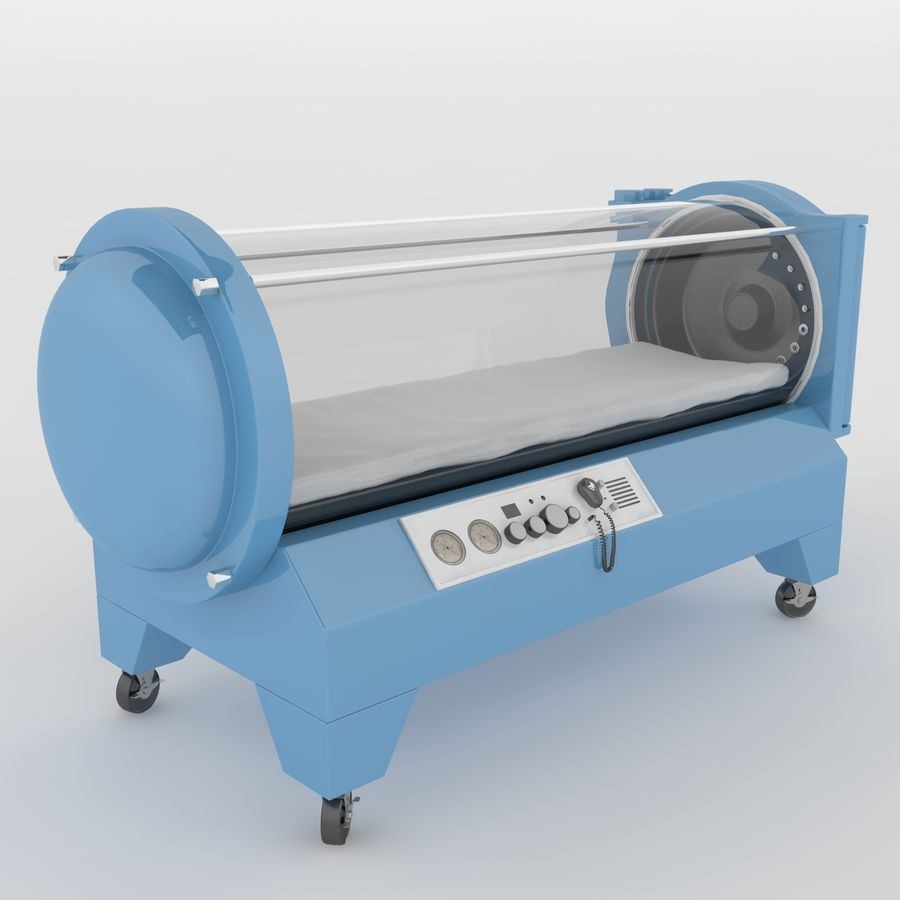 Hyperbaric Chamber SECHRIST2500B royalty-free 3d model - Preview no. 3