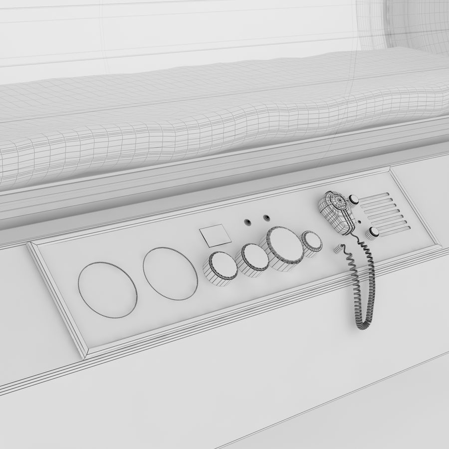 Hyperbaric Chamber SECHRIST2500B royalty-free 3d model - Preview no. 9