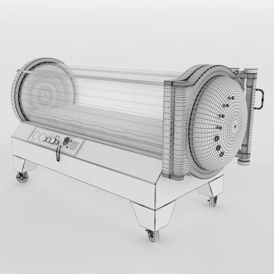 Hyperbaric Chamber SECHRIST2500B royalty-free 3d model - Preview no. 6