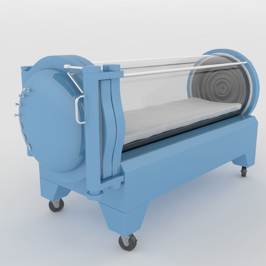 Hyperbaric Chamber SECHRIST2500B royalty-free 3d model - Preview no. 2