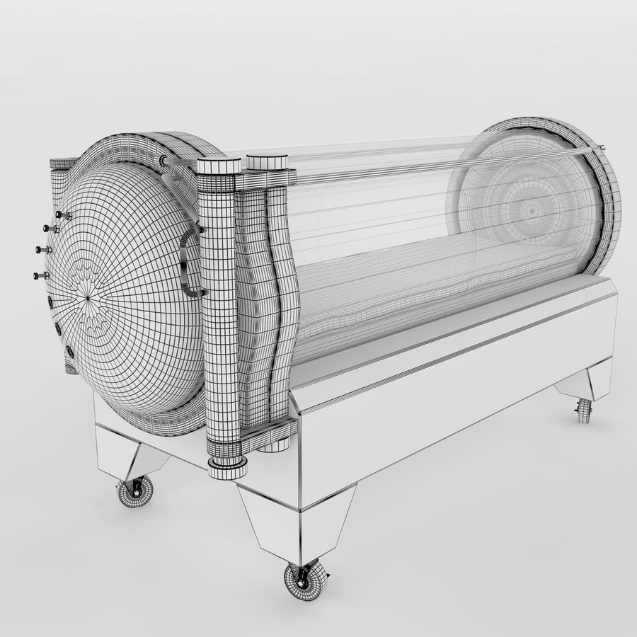 Hyperbaric Chamber SECHRIST2500B royalty-free 3d model - Preview no. 7