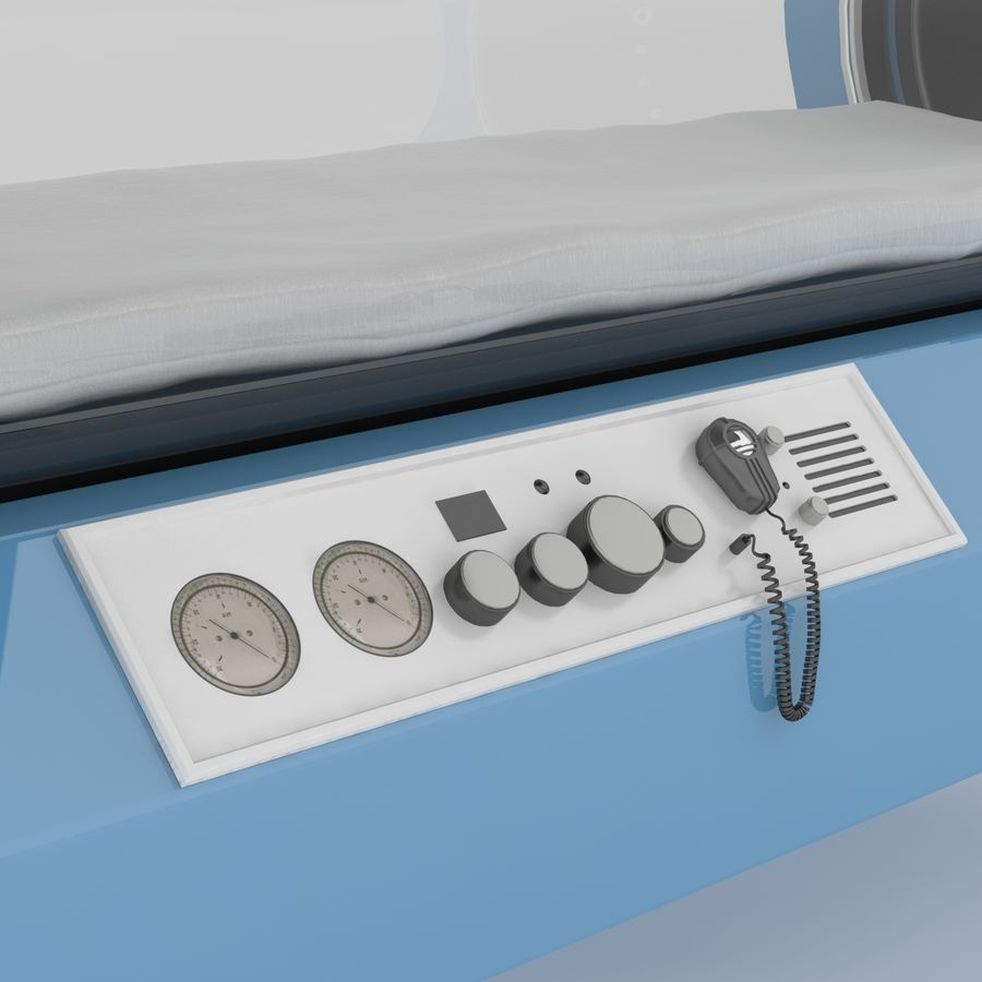 Hyperbaric Chamber SECHRIST2500B royalty-free 3d model - Preview no. 4