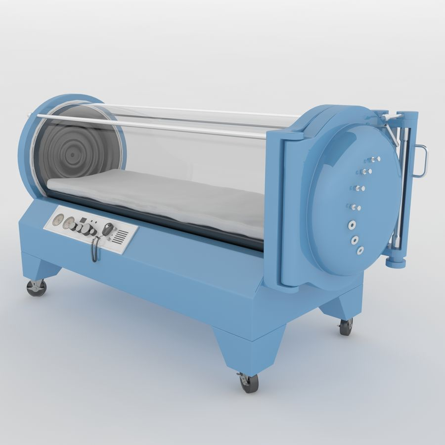 Hyperbaric Chamber SECHRIST2500B royalty-free 3d model - Preview no. 1