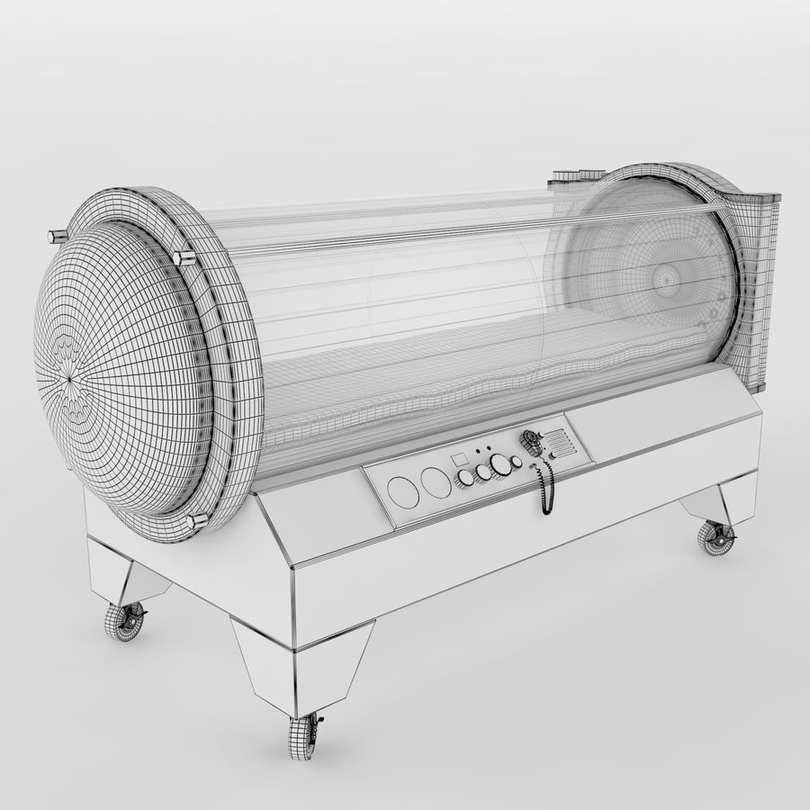Hyperbaric Chamber SECHRIST2500B royalty-free 3d model - Preview no. 8