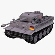 German Tiger 1 Panger VI Ausf. E 3d model