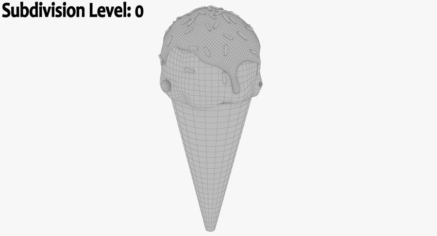 Ice Cream Set V2 royalty-free 3d model - Preview no. 5