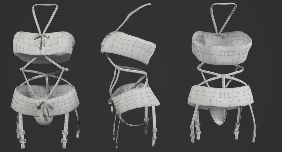 Lingerie sexy royalty-free 3d model - Preview no. 6