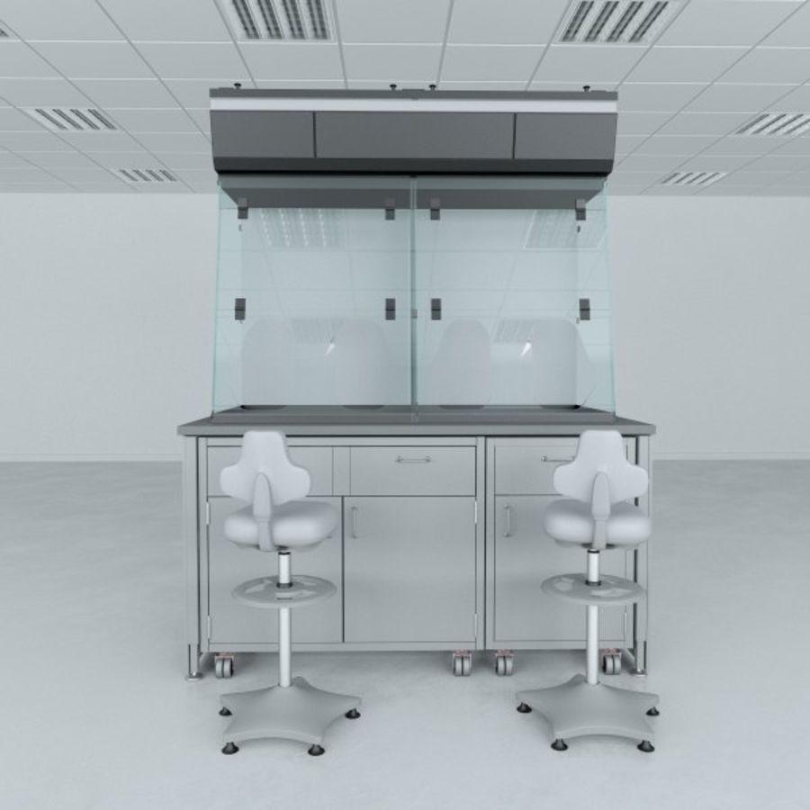 Лабораторная мебель (кабинет биобезопасности) royalty-free 3d model - Preview no. 2