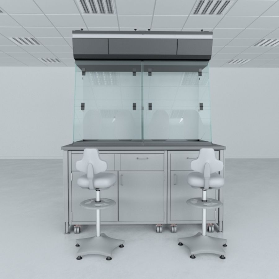 Lab Furniture ( Biosafety Cabinet ) royalty-free 3d model - Preview no. 2