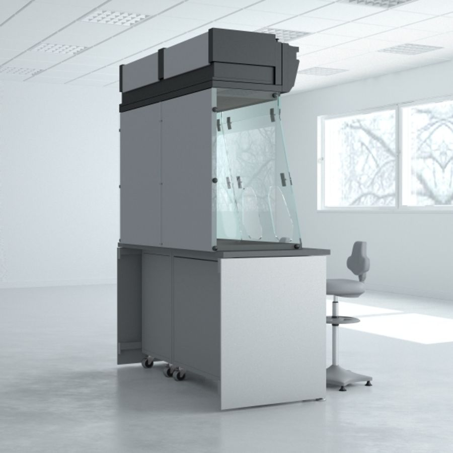 Lab Furniture ( Biosafety Cabinet ) royalty-free 3d model - Preview no. 4