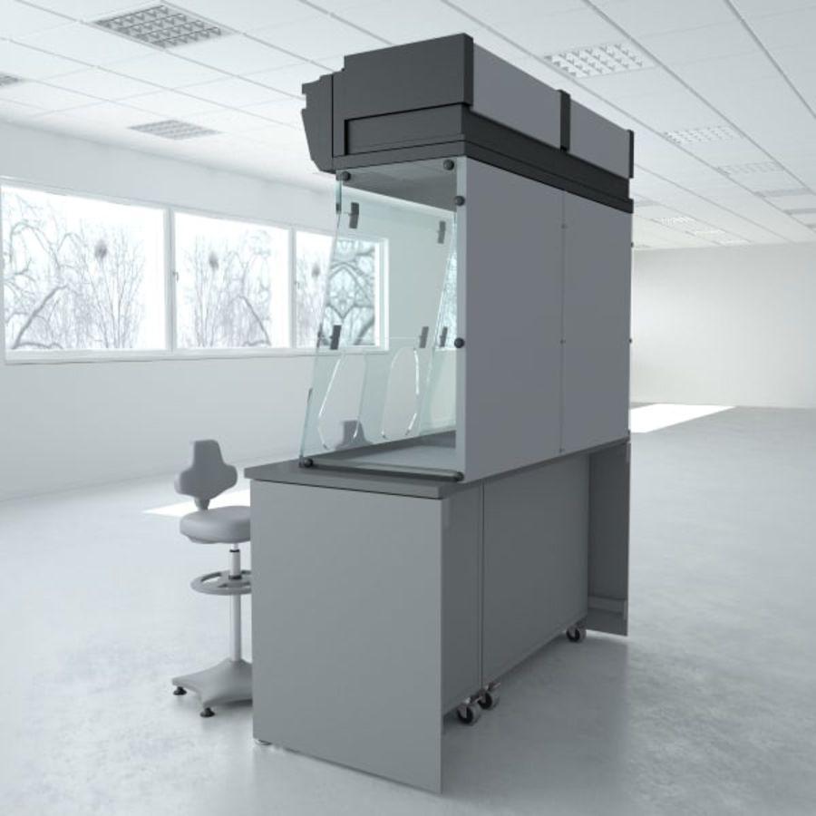 Лабораторная мебель (кабинет биобезопасности) royalty-free 3d model - Preview no. 5