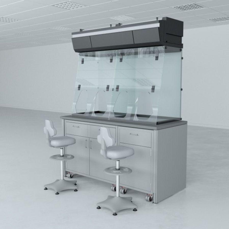 Лабораторная мебель (кабинет биобезопасности) royalty-free 3d model - Preview no. 3