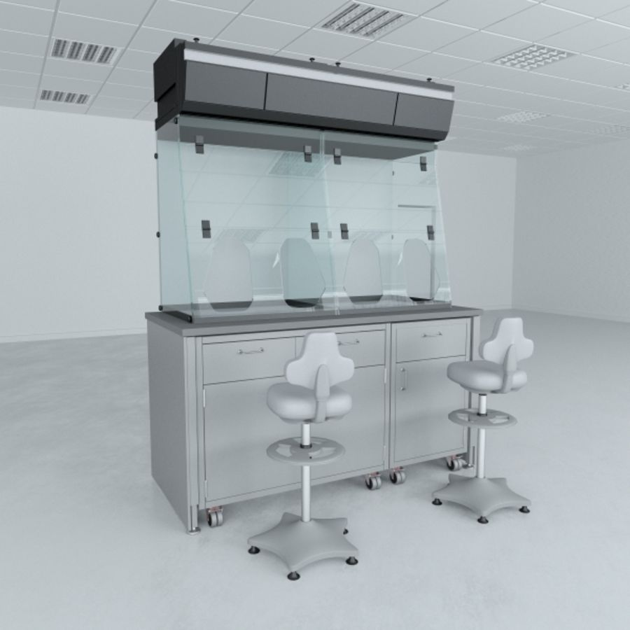 Lab Furniture ( Biosafety Cabinet ) royalty-free 3d model - Preview no. 1