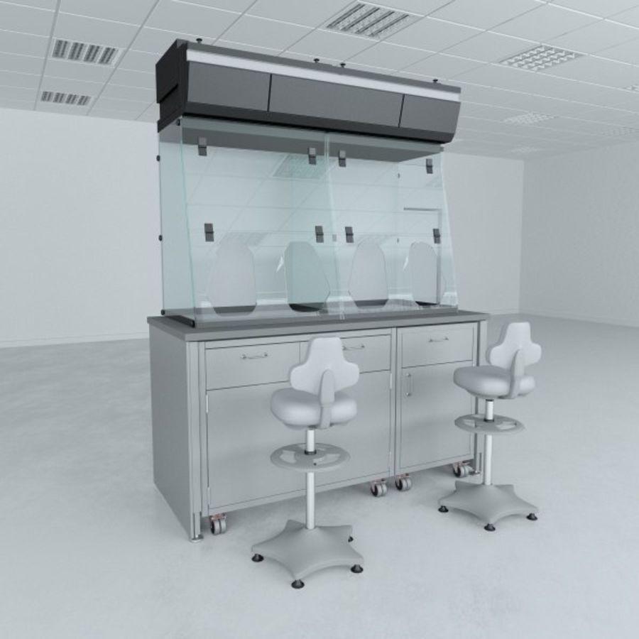 Лабораторная мебель (кабинет биобезопасности) royalty-free 3d model - Preview no. 1