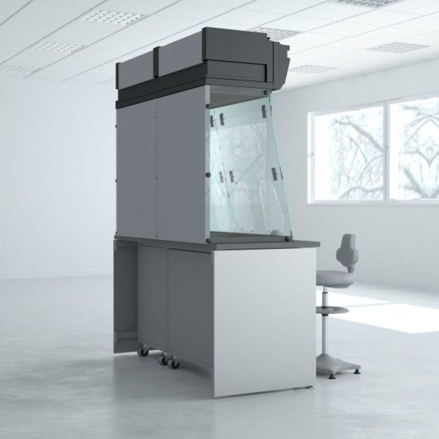 Лабораторная мебель (кабинет биобезопасности) royalty-free 3d model - Preview no. 4